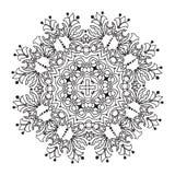 Hand drawing zentangle mandala element. Italian majolica style Royalty Free Stock Photos