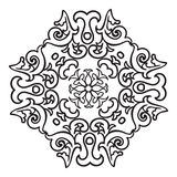 Hand drawing zentangle mandala element. Italian majolica style Royalty Free Stock Photography