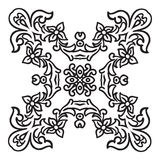 Hand drawing zentangle mandala element. Italian majolica style Stock Image