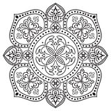 Hand drawing zentangle mandala element. Italian majolica style Royalty Free Stock Photos