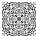 Hand drawing zentangle mandala element. Italian majolica style Royalty Free Stock Image