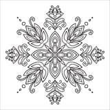 Hand drawing zentangle mandala element. Italian majolica style stock illustration
