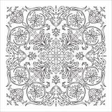 Hand drawing zentangle mandala element. Italian majolica style Stock Photos