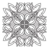 Hand drawing zentangle mandala element. Italian majolica style Stock Image