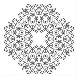 Hand drawing zentangle mandala element. Italian majolica style Stock Images