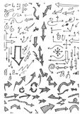 Hand-drawn άνευ ραφής σχέδιο doodle με τα βέλη eps10 Στοκ φωτογραφία με δικαίωμα ελεύθερης χρήσης