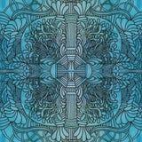 Hand-drawn άνευ ραφής σχέδιο doodles zentangle Στοκ Φωτογραφία