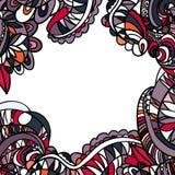 Hand-drawn αναδρομικό σχέδιο κυμάτων, κυματιστό γραφική απεικόνιση χρωματισμού βιβλίων ζωηρόχρωμη Στοκ Εικόνες