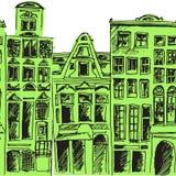 Hand-drawn αναδρομικό σχέδιο κυμάτων, κυματιστό υπόβαθρο Στοκ εικόνα με δικαίωμα ελεύθερης χρήσης