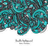 Hand-drawn αναδρομικό σχέδιο κυμάτων, Στοκ εικόνα με δικαίωμα ελεύθερης χρήσης