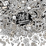 Hand-drawn απεικόνιση έννοιας doodles κινούμενων σχεδίων Στοκ Εικόνες
