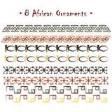 Hand-drawn αφρικανικές διακοσμήσεις ethno Στοκ εικόνα με δικαίωμα ελεύθερης χρήσης