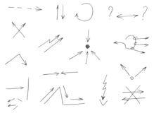 15 hand-drawn βέλη απεικόνιση αποθεμάτων