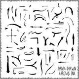 Hand-drawn βέλη Στοκ φωτογραφίες με δικαίωμα ελεύθερης χρήσης