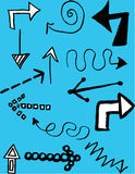 Hand-drawn βέλη Στοκ φωτογραφία με δικαίωμα ελεύθερης χρήσης
