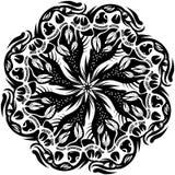 Hand-drawn διακοσμητικό στοιχείο με τους λοβούς, γραπτό σχέδιο Στοκ φωτογραφία με δικαίωμα ελεύθερης χρήσης