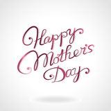 Hand-drawn εγγραφή ημέρας της ευτυχούς μητέρας Στοκ εικόνες με δικαίωμα ελεύθερης χρήσης