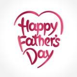 Hand-drawn εγγραφή ημέρας του ευτυχούς πατέρα Στοκ εικόνες με δικαίωμα ελεύθερης χρήσης