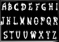 Hand-drawn εκλεκτής ποιότητας γοτθικές ορισμένες abc επιστολές Στοκ φωτογραφία με δικαίωμα ελεύθερης χρήσης