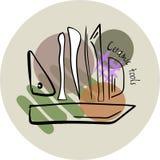 Hand-drawn εργαλεία αγγειοπλαστικής Στοκ φωτογραφία με δικαίωμα ελεύθερης χρήσης