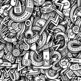 Hand-drawn θέμα ύφους αυτοκινήτων doodles κινούμενων σχεδίων Στοκ Εικόνες