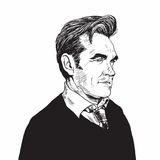 Hand-drawn διανυσματική απεικόνιση καρικατουρών πορτρέτου Morrissey Στοκ εικόνα με δικαίωμα ελεύθερης χρήσης