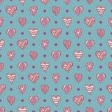 Hand-drawn καρδιές Στοκ εικόνα με δικαίωμα ελεύθερης χρήσης