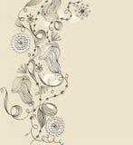 Hand-drawn λουλούδι. Στοκ Φωτογραφία