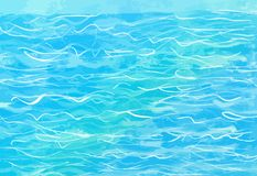 Hand-drawn μπλε υπόβαθρο νερού Διανυσματική απεικόνιση