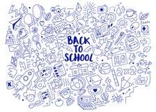 Hand-drawn πίσω στο σχολικό υπόβαθρο Στοκ φωτογραφία με δικαίωμα ελεύθερης χρήσης