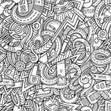 Hand-drawn περιγραμματικά doodles κινούμενων σχεδίων στο θέμα Στοκ Εικόνες