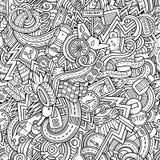 Hand-drawn περιγραμματικά doodles κινούμενων σχεδίων στο θέμα Στοκ Φωτογραφίες
