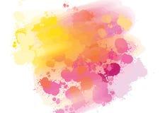 Hand-drawn υπόβαθρο παφλασμών χρωμάτων Ελεύθερη απεικόνιση δικαιώματος