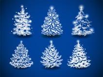 Hand-drawn χριστουγεννιάτικα δέντρα Στοκ Εικόνα