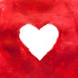 Hand-drawn χρωματισμένη καρδιά Στοκ εικόνες με δικαίωμα ελεύθερης χρήσης