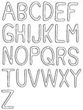 Hand drawn abc. Hand drawn  abc, font, 3D, alphabet Stock Images