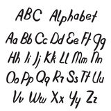 Hand drawn ABC letters. Alphabet. Royalty Free Stock Photography