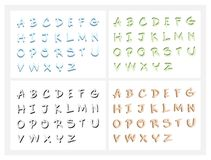 Hand Drawn ABC Letters or Alphabet Letters Set Stock Photography