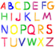 Hand drawn abc letters. Colorful alphabet. Hand drawn abc letters Stock Illustration