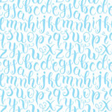 Hand drawn abc letters seamless pattern Royalty Free Stock Image