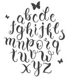 Hand drawn abc letters set Royalty Free Stock Images