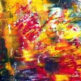 Hand-drawn abstract acrylic background stock images