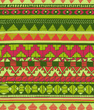 Hand drawn abstract aztec geometric seamless colorful pattern Stock Photos