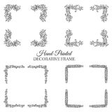Hand drawn abstract background ornament frame Stock Image