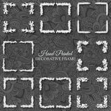 Hand drawn abstract background ornament frame Stock Photography