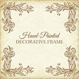 Hand drawn abstract background ornament frame on Stock Images