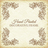 Hand drawn abstract background ornament frame on Stock Photography