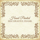 Hand drawn abstract background ornament frame on Stock Photos