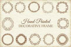Hand drawn abstract background ornament frame on Royalty Free Stock Photography