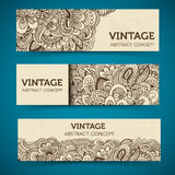 Hand drawn abstract background ornament Royalty Free Stock Photography